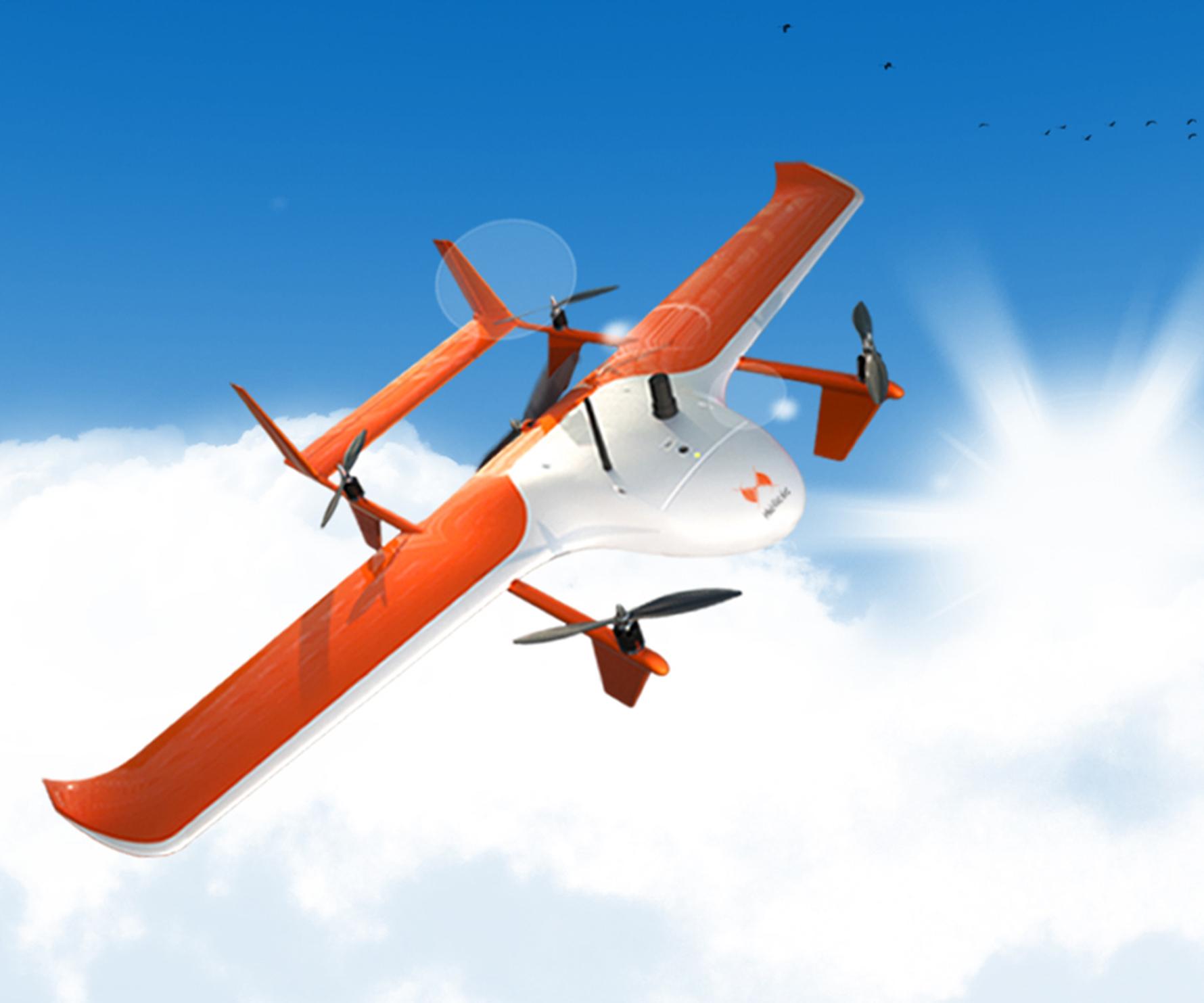 Drones héliceo dans le ciel